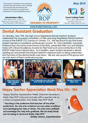 MAY - JUNE 2014 NEWSLETTER